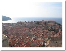 Panorama över Dubrovnik  gammla stan