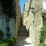 Korcula gade i den gamle bydel
